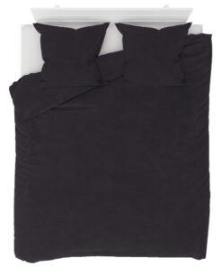 vidaXL sengesæt 200×220/80×80 cm fleece antracitgrå