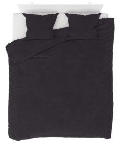 vidaXL sengesæt 200×220/60×70 cm fleece antracitgrå