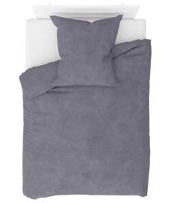 vidaXL sengesæt 135×200/80×80 cm fleece grå