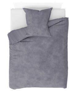 vidaXL sengesæt 155×220/80×80 cm fleece grå