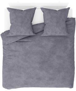 vidaXL sengesæt 200×220/80×80 cm fleece grå