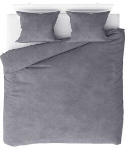 vidaXL sengesæt 200×220/60×70 cm fleece grå