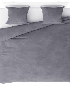 vidaXL sengesæt 240×220/60×70 cm fleece grå
