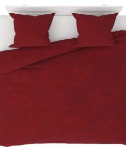 vidaXL sengesæt 240×220/60×70 cm fleece vinrød