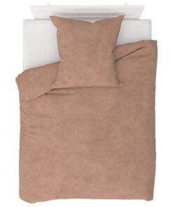 vidaXL sengesæt 135×200/80×80 cm fleece beige