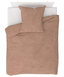 vidaXL sengesæt 155×200/80×80 cm fleece beige