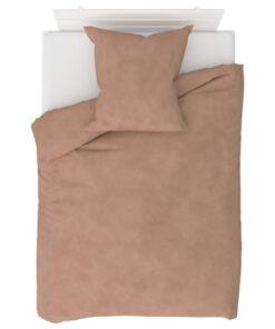 vidaXL sengesæt 155×220/80×80 cm fleece beige