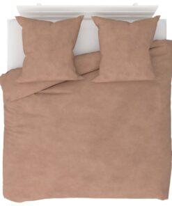 vidaXL sengesæt 200×220/80×80 cm fleece beige
