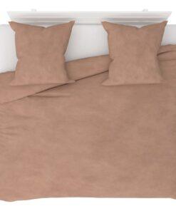 vidaXL sengesæt 240×220/80×80 cm fleece beige