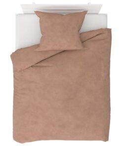 vidaXL sengesæt 140×200/60×70 cm fleece beige