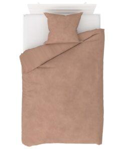 vidaXL sengesæt 140×220/60×70 cm fleece beige