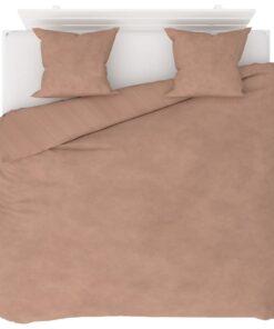 vidaXL sengesæt 240×220/60×70 cm fleece beige