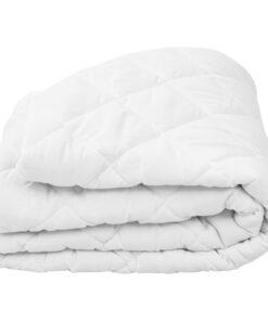 vidaXL vatteret madrasbeskytter 90 x 200 cm tung hvid