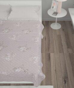 vidaXL vattæppe 230 x 260 cm stof gråbrun