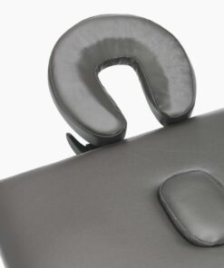 vidaXL massagebord med 2 zoner træstel antracitgrå 186 x 68 cm