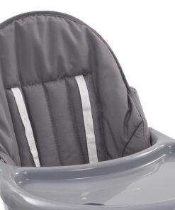 vidaXL højstol grå og hvid