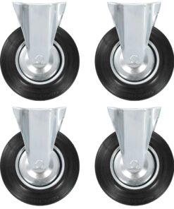 vidaXL faste hjul 12 stk. 200 mm
