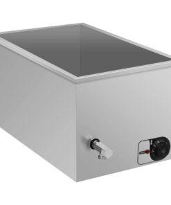 vidaXL bain-marie-madvarmer 1500 W rustfrit stål