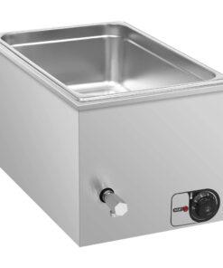 vidaXL bain-marie-madvarmer 1500 W GN 1/1 rustfrit stål