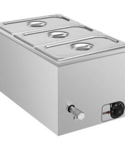 vidaXL bain-marie-madvarmer 1500 W GN 1/3 rustfrit stål