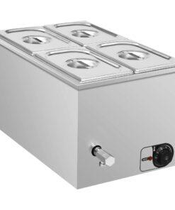 vidaXL bain-marie-madvarmer 1500 W GN 1/4 rustfrit stål