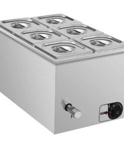 vidaXL bain-marie-madvarmer 1500 W GN 1/6 rustfrit stål