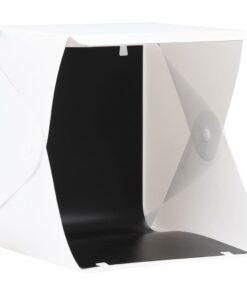 vidaXL foldbar lyskasse til fotostudie 23 x 25 x 25 cm hvid