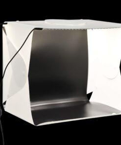 vidaXL foldbar lyskasse til fotostudie 40 x 34 x 37 cm plastik hvid