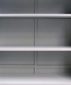vidaXL kontorskab med 2 låger 90 x 40 x 180 cm stål grå