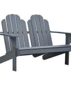 vidaXL 2-personers Adirondack-stol træ grå