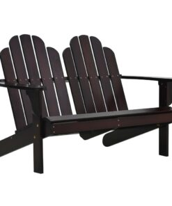 vidaXL 2-personers Adirondack-stol træ brun
