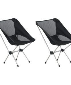 vidaXL foldbare campingstole 2 stk. m. bæretaske 54x50x65 cm aluminium