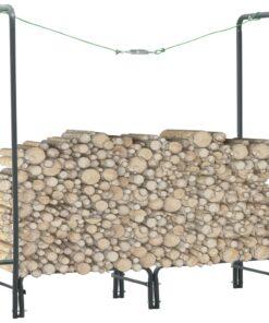 vidaXL brændestativ 120 x 35 x 120 cm stål antracitgrå