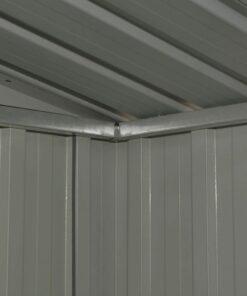 vidaXL haveskur stål antracitgrå