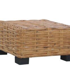 vidaXL sofaborde 47 x 47 x 28 cm naturlig rattan