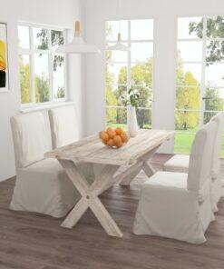 vidaXL spisebord 160x80x75 cm massivt teaktræ