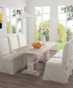 vidaXL spisebord 180x90x75 cm massivt teaktræ