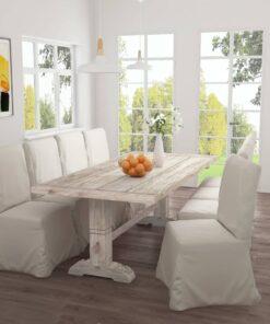 vidaXL spisebord 220x100x75 cm massivt teaktræ