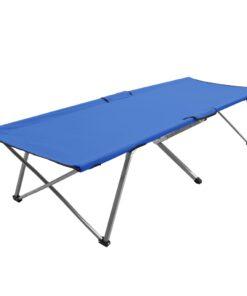 vidaXL campingseng 206 x 75 x 45 cm XXL blå