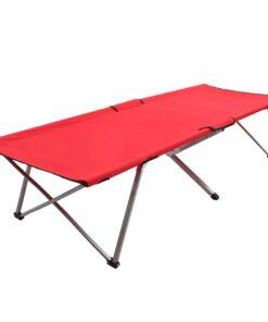 vidaXL campingseng 206 x 75 x 45 cm XXL rød