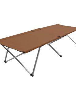 vidaXL campingseng 206x75x45 cm XXL brun