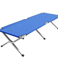 vidaXL campingseng 190 x 74 x 47 cm XL blå