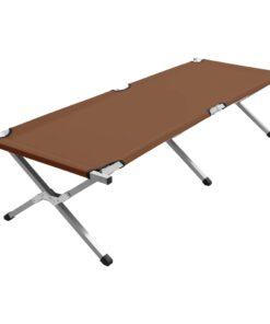vidaXL campingseng 190 x 74 x 47 cm XL brun