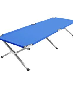 vidaXL campingseng 210 x 80 x 48 cm XXL blå