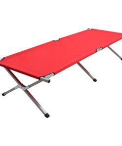 vidaXL campingseng 210 x 80 x 48 cm XXL rød