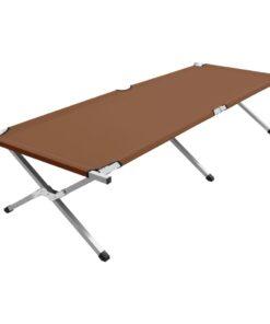vidaXL campingseng 210 x 80 x 48 cm XXL brun
