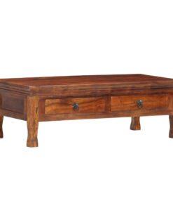 vidaXL sofabord 110 x 55 x 35 cm massivt akacietræ