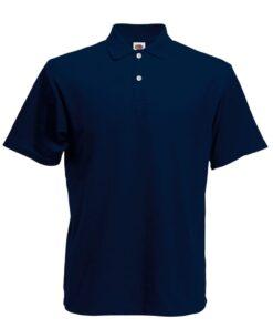 Fruit of the Loom 5 stk. originale poloskjorter til mænd M marineblå