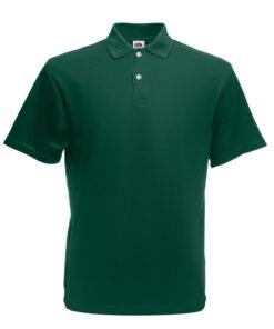 Fruit of the Loom 5 stk. originale poloskjorter til mænd L skovgrøn
