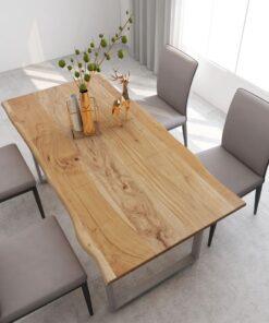 vidaXL spisebord 180x90x76 cm massivt akacietræ